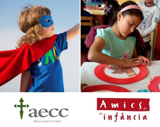 Asociación Española Contra el Cáncer (aecc) y Amics de la Infància.