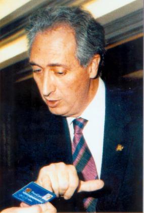 Fotografía de archivo, tomada el 27/06/1995, del empresario aragonés Publio Cordón.
