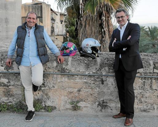 Pedro Mas y Rafel Abraham en Es Baluard.
