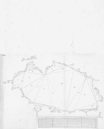 Mapa de Ibiza de Juan Polo, 1803. Cortesía de la Real Academia de la Historia.