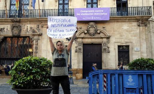 Sonia Vivas en la plaza de Cort.