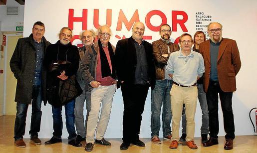 "Mendiola, Antoni Salvá ""Chopo"", Ferran Aguiló, Pep Roig, Rafel Vaquer, Jaume Balaguer, Pere Joan, Álex Fito y Tótum."