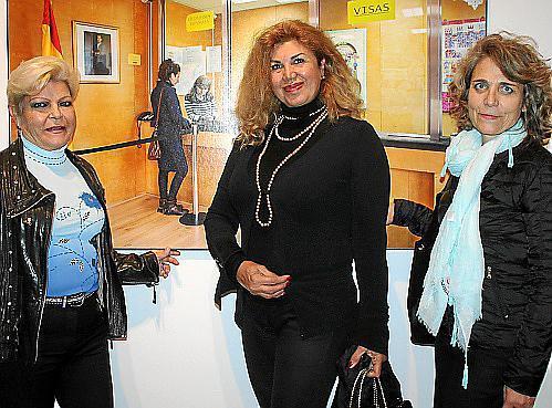 Isabel Agüero, Sedi Behvarrad y Marilén García de Quevedo.