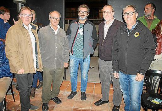 Joan Toni, Bernardí Morey, Llucià Alorda, Pere Tries y Xisco Colom.