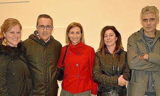 Apol·lònia Sansó, Carles Figuerola, Rosa Tarragó, Victoria Amer y Gabriel Alzina.