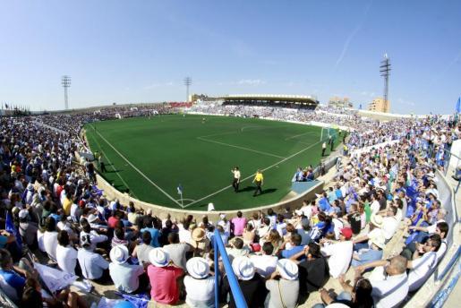 Imagen del Estadi Balear el día del partido ante el Mirandés.