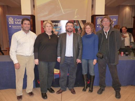 Francisco Gil, María Antonia Ferrer, Santiago Fiol, Elena Recalde y Javier Moyá.