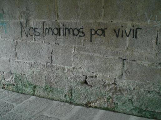 Grafiti O Castro, Vigo, 2012.