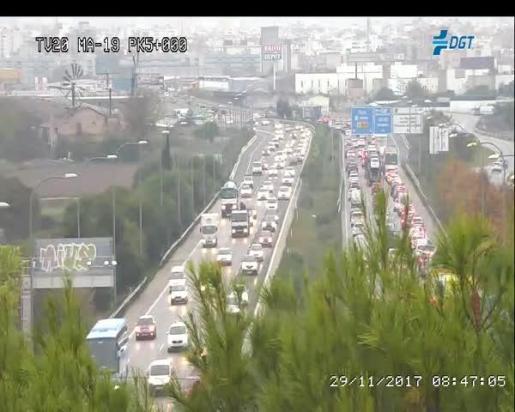 Imagen de las cámaras de tráfico de la DGT en la MA-19.