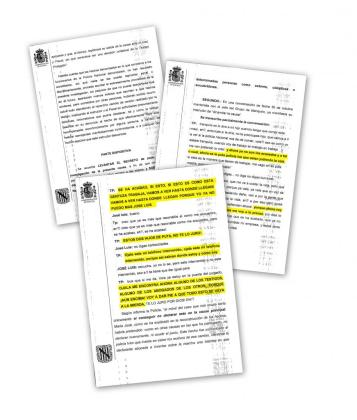 Transcripción realizada por la Policía Nacional de la conversación entre la 'madame' y el jefe del Grupo de Blanqueo de Capitales del CNP.