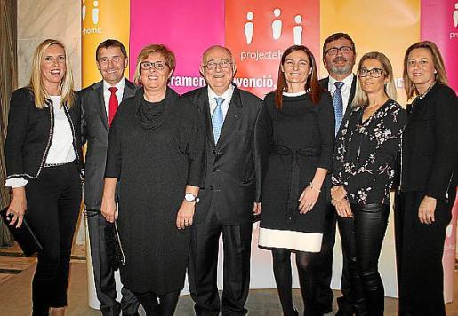 Marga Ripoll, Antoni Ferrer, Marga Morro, Tomeu Catalá, María Serra, Jesús Mullor, Marga Qués y Marga Llompart.