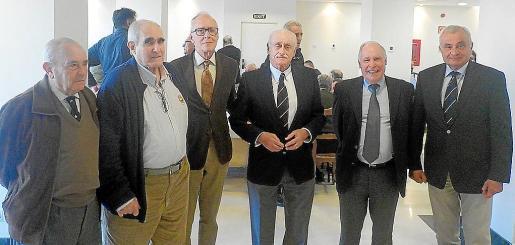Felipe Villalonga, José Falcó, Juan Caridad, Miguel Montojo, Juan Ramis d'Ayreflor y Fulgencio Coll.