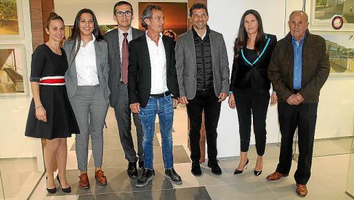 Marta Rioboo, Raquel Rioboo, Martín Llull, Galo Rioboo, Alfonso Muñoz, Francisca Vallespir y Joan Vallespir.