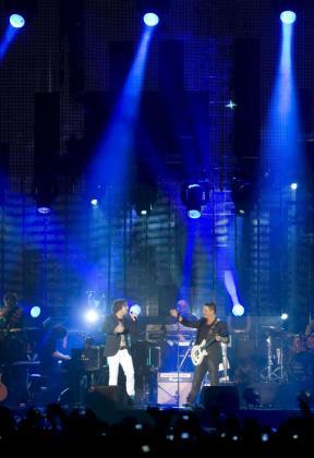 Bisbal y Sanz, juntos en un concierto.