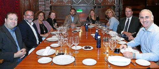 Juanjo Calero, Poncio Ripoll, Carmen Soto, María Garau, Luis Sureda, Fonsa Serra, María Ferrá, Clemens Roehrig, Petra Roehrig y Antoni Piña.
