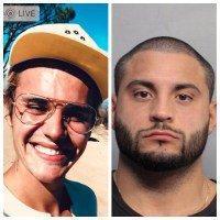 Imagen de Justin Bieber y su jefe de seguridad Michael «Mikey» Arana.