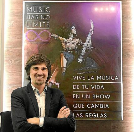 Eleazar González, coordinador de la gira de 'Music has no limits'.
