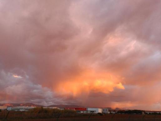 Fotografía de la AEMET sobre la nubosidad con la que ha amanecido este viernes Mallorca.