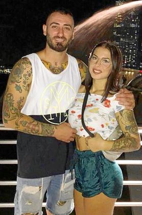 Eduardo Iordache y Selena Pérez, en Bali.