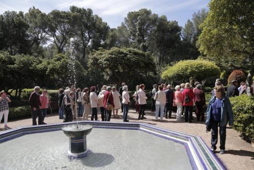 Imagen de los jardines durante una visita.
