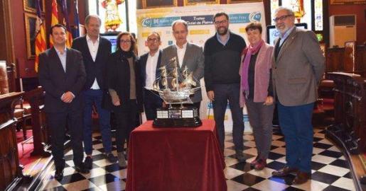 Momento de la presentación del 67º trofeo Ciutat de Palma de vela.