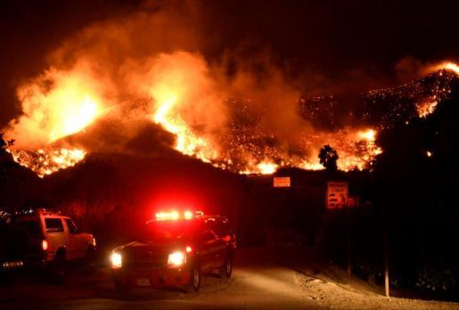 Imagen del incendio descontrolado.