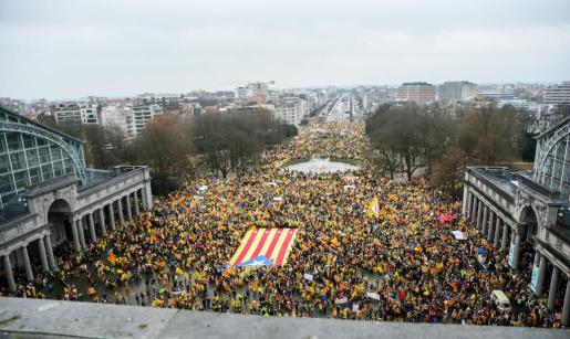La explanada del Parque del Cincuentenario de Bruselas ha sido el punto de participa de esta marcha.