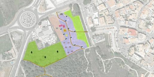 La propuesta que UMP negocia con Medi Ambient contempla la creación de un aparcamiento para 70 vehículos, una gran área recreativa dotada con un parque infantil con columpios y zona de petanca y la creación de nuevos itinerarios peatonales.