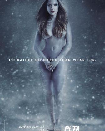 La actriz mexicana Kate del Castillo se desnuda en defensa de los animales en una campaña de PETA.
