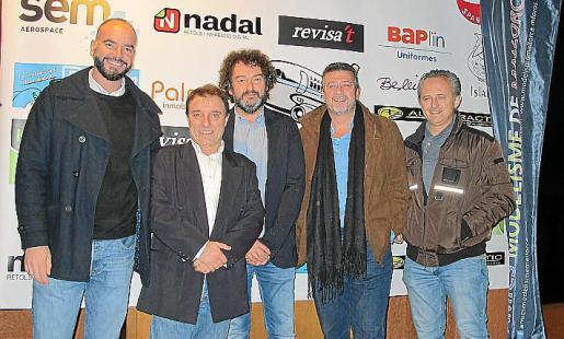 Ernesto Gutiérrez, Tomás Gómez, Toni Gayà, Lluís Ramis y Nadal Galiana.