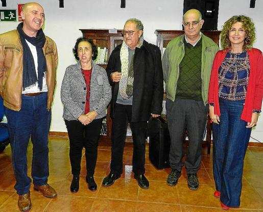 Gaspar Mora, Maria Barceló, Pere Morey, Lluís Servera y Xisca Mora.