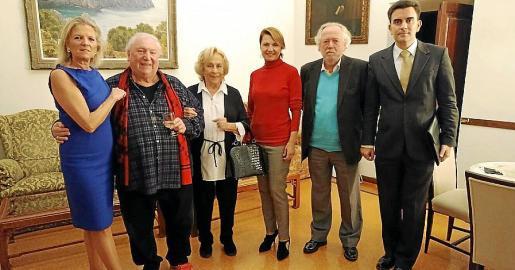 Toya de la Vega, Jimmy Horrach, Marisé Fernández Segade, Marga Durán, Tomeu Berga y Jorge Garrido.