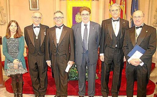 Margalida Montero, Macià Tomàs, Lluís Masmiquel, Antoni Bennàsar, Toni Cañellas y Joan Besalduch.