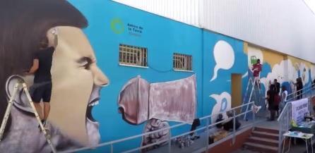 Graffiti de Jerom en la ciudad de Ibiza.