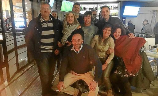 Climent Garau, Magdalena Pujol, Toni Tirado, Andreu Estrany, José Contestí, Pilar Gómez, Marga Llobera y Bernardo Jaume.