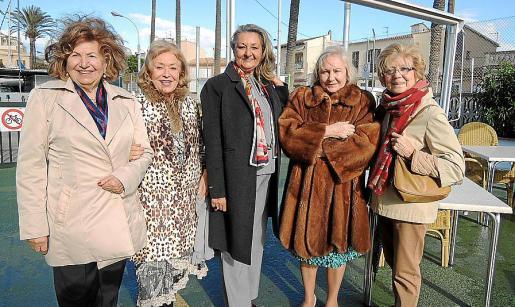 María Fullana, Leo Planells, Magdalena Grúa, Conchi Saboya y Elisa Cerdá.