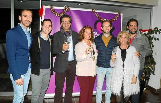 Sergio Rodríguez, José Caro, Biel Company, Jero Mayans, David Caro, Teresa Llull y Rubén Quesada.