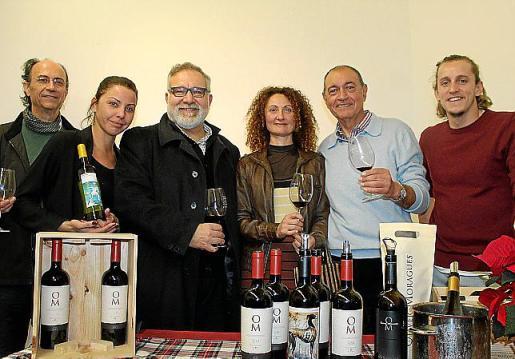 Miguel Ángel Pericás, Carolina Ferragut, Pep Lluís Bauzà, Mika Palmer, Miguel Oliver y Biel Oliver.