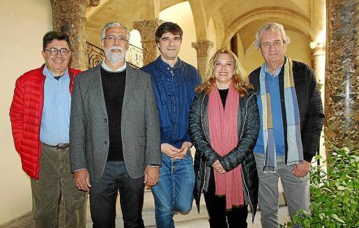 Joan Mayol, Mateu Ginard, Sebastià Solivellas, Tiffany Blackman y Joan Miralles.