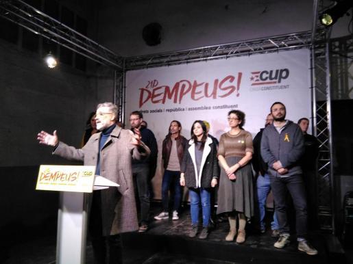 Carles Riera, valorando los resultados electorales.