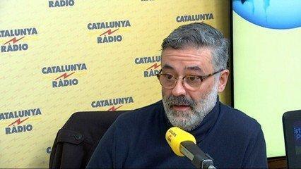El cabeza de lista de la CUP, en los micrófonos de Catalunya Ràdio.