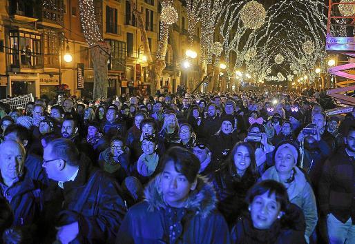 Imagen de la Nochevieja pasada en el Passeig del Born.