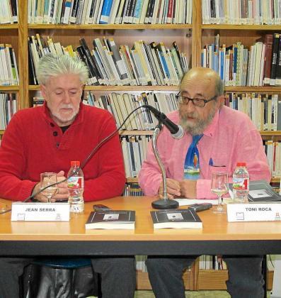Jean Serra y Toni Roca, durante la presentación.