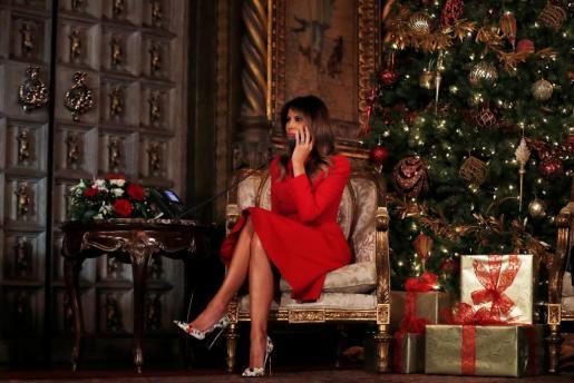 Melania Trump, muy navideña.