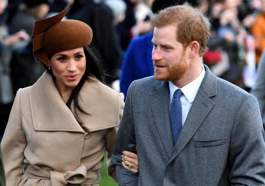 El príncipe Enrique y su prometida, Meghan Markle.