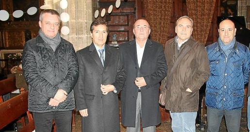 Tolo Manera, Jaume Canudas, Jordi Mulet, Toni Solà y Andreu Timoner.