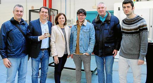 Julio Bastida, Javier Jiménez, Paula Serra, Guillermo Esteban, Pedro Fiol y Pedro Serra.