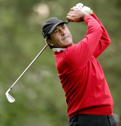 Fotografía del 6 de abril de 2007 del golfista español Severiano Ballesteros durante la segunda ronda del Masters de Augusta en el National Golf Club de Augusta, Georgia.