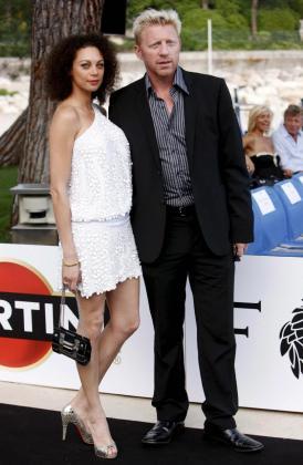 Boris Becker y su esposa Lilly Kerssenberg.