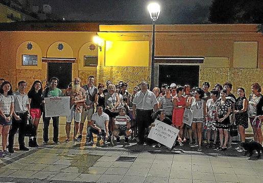 Manifestación del año pasado en Pere Garau contra la agresión a unas mujeres chinas.